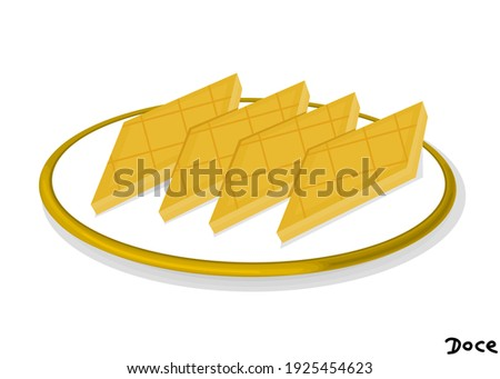 Doce indian Sweet Dish Food Vector Foto stock ©
