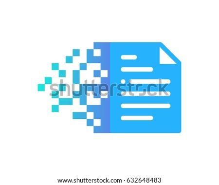 Docs Digital Pixel Paper Icon Logo Design Element Stock photo ©