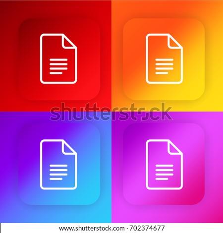 Docs four color gradient app icon set