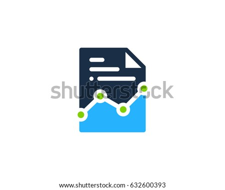 Docs Stats Paper Icon Logo Design Element