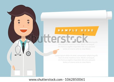 Doctor and blank paper vector design