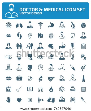 Doctor and medical icon set,vector
