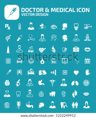 Doctor and medical vector icon set
