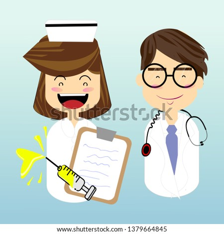doctor and nurse, occupation and health