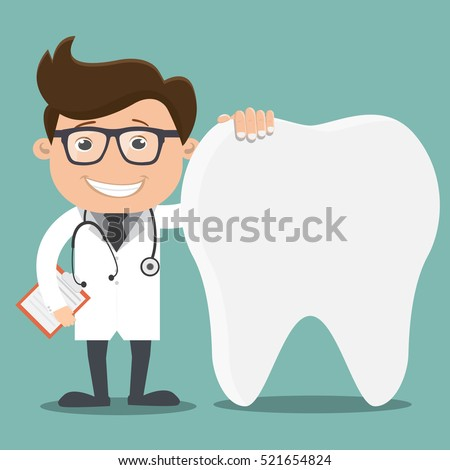 Doctor and teeth , Dentist concept - vector illustration