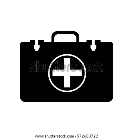 doctor bag flat icon for medical app and website