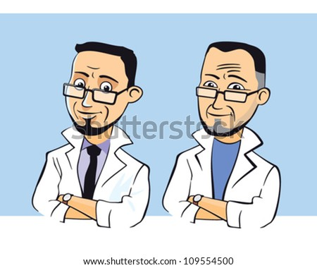 Doctor character vector illustration