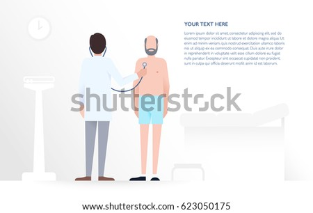doctor examines a patient in a