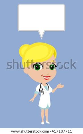 doctor female cute vector