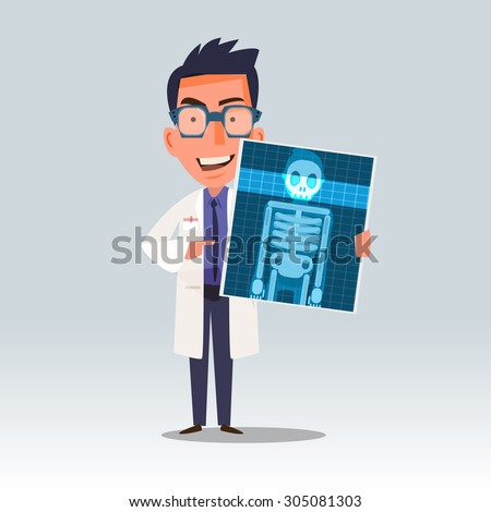 doctor holding x ray or
