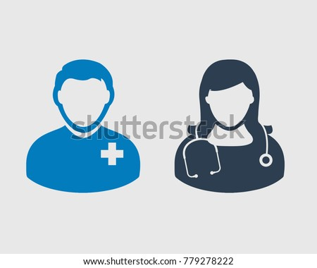 Doctor Icon on gray Background