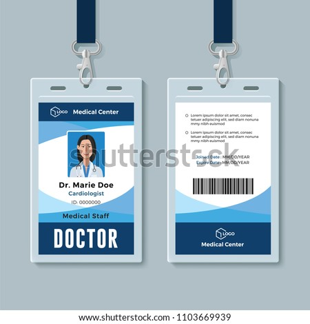 identification card templates download free vector art stock