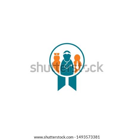 Doctor Logo Medical Clinic Icon.