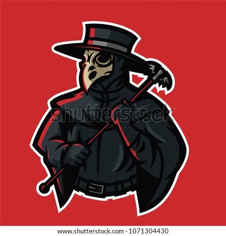 doctor plague esport gaming mascot logo template