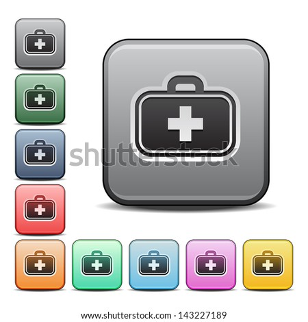 Doctor'S Bag Medical Icon Stock Vector Illustration ...