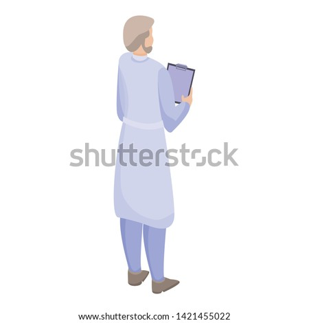 Doctor scientific icon. Isometric of doctor scientific vector icon for web design isolated on white background