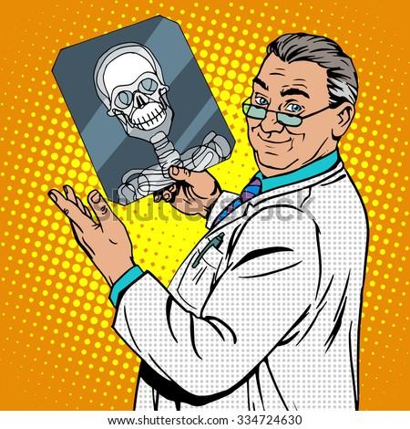 doctor surgeon x rays skull
