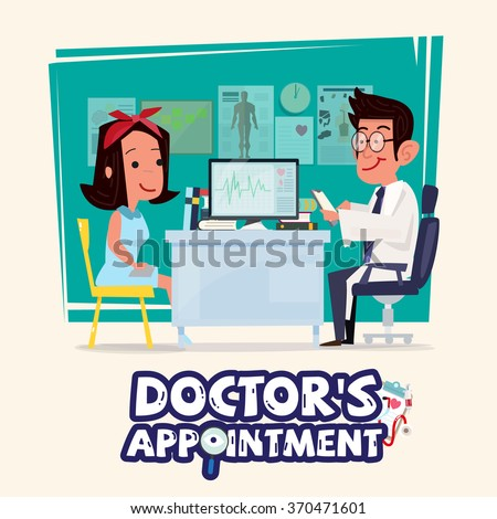 doctor talking with female