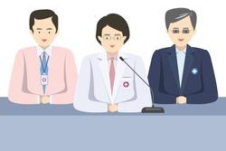 Doctor Team Interview Press Vector