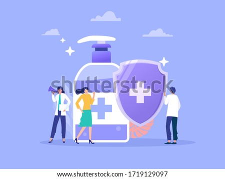 doctor telling the people to wash their hands frequently to prevent corona virus disease vector illustration concept, can use for, landing page, template, ui, web, homepage, poster, banner, flyer