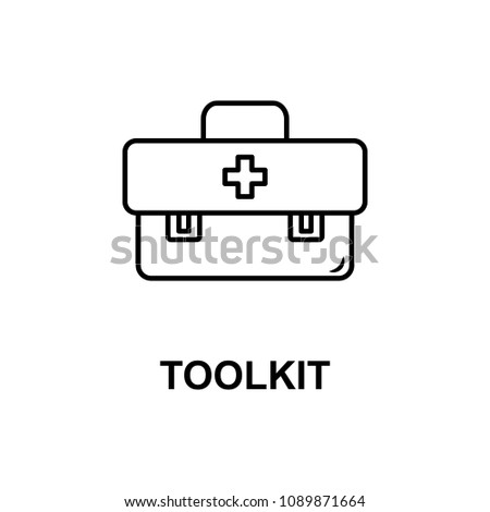 doctor toolkit icon. Element of treatment with name for mobile concept and web apps. Thin line doctor toolkit icon can be used for web and mobile. Premium icon on white background