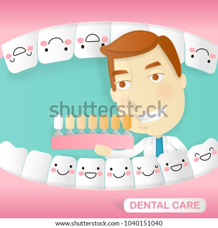 doctor with dental care on the