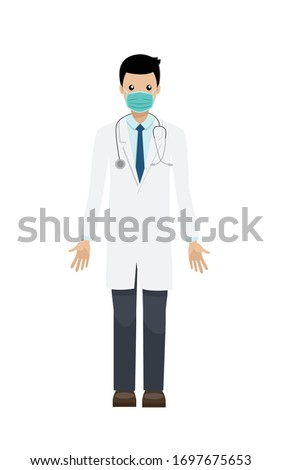 doctor with face mask isolated