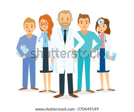 doctors and other hospital staff