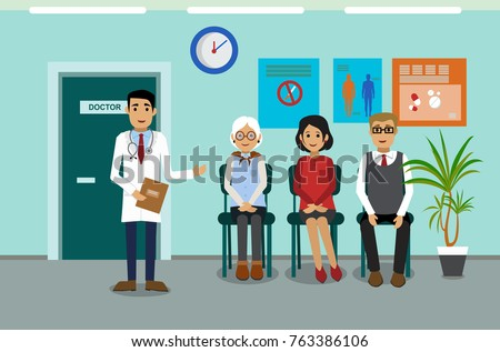 doctors and patients in the