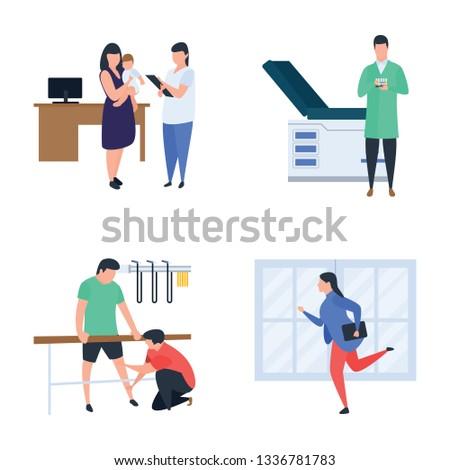 Doctors and physicians Illustration Bundle