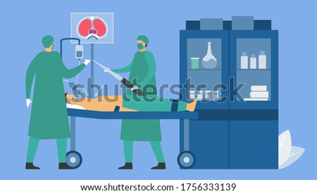 doctors are operating a patient