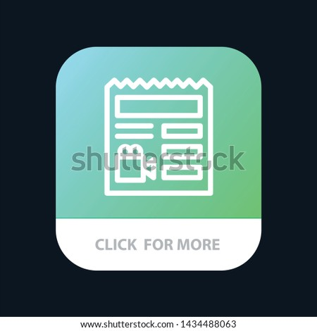Document, Basic, Video, Camera Mobile App Button. Android and IOS Line Version