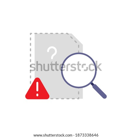 document file is does not exist, is missing, not found concept illustration flat design vector eps10, simple and modern style graphic element for app or website ui ux Сток-фото ©