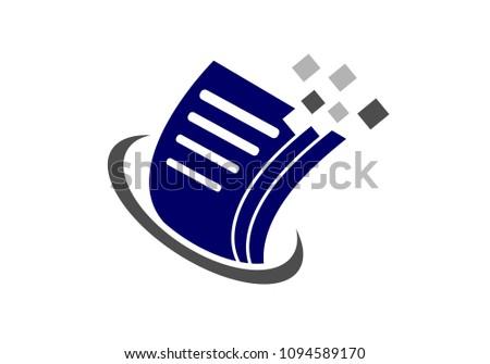 Document File Paper Data Pixel Logo