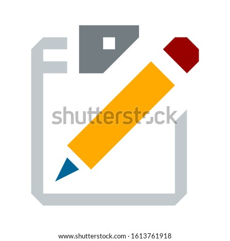 document flat icon - Document vector icon. Illustration isolated for graphic and web design
