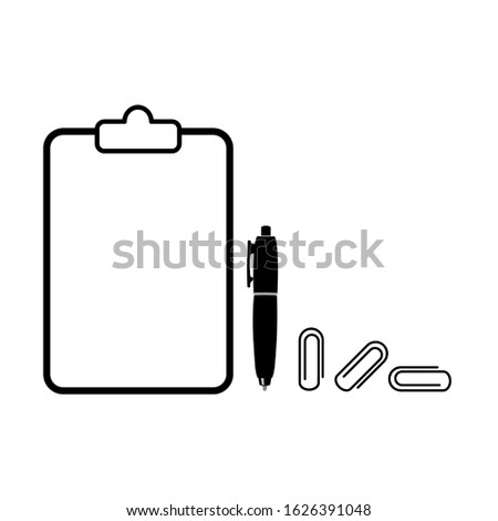 Document icon consists of a document, documents clipper and documents icon. Document vector in white background. This document vector has several paper documents. Documents shape illustration.