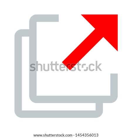 Document icon. flat illustration of Document. vector icon. Document sign symbol