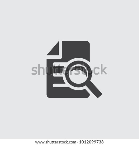 Document icon. High quality black outline logo for web site design and mobile apps. Vector illustration on a white background.