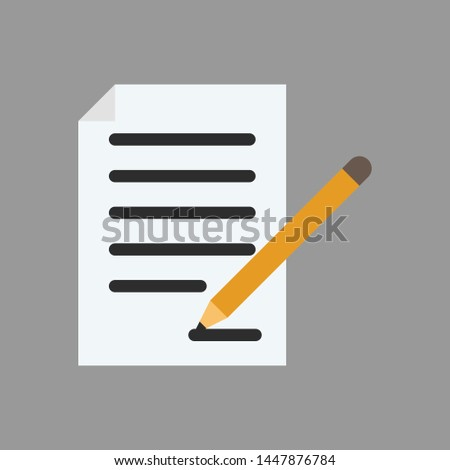 Document icon, home document, property document and building document you use your project. #1447876784