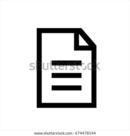 Document icon in trendy flat style isolated on background. Document icon page symbol for your web site design Document icon logo, app, UI. Document icon Vector illustration, EPS10.
