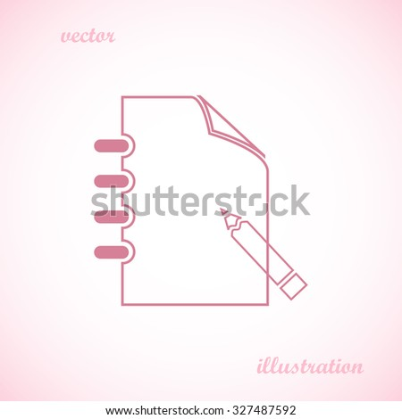 document icon, notepad,
