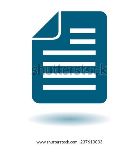 Document Icon of simbol