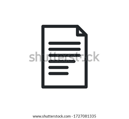 Document icon outline and linear vector.