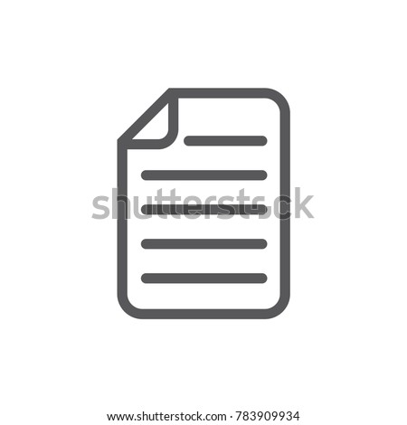 Document icon. Page icon. Vector illustration.