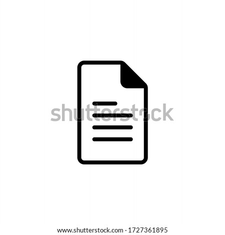 Document icon vector. File icon illustration