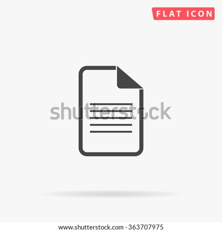 Document Icon vector. Simple flat symbol. Perfect Black pictogram illustration on white background.
