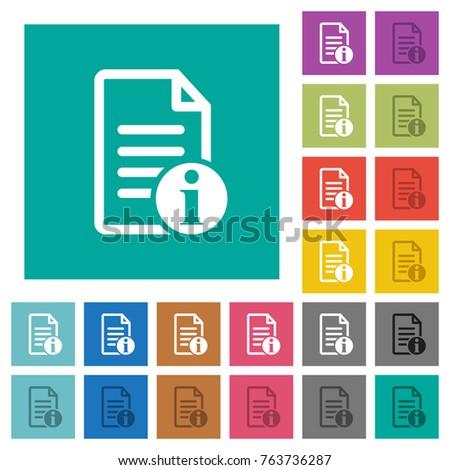 document info multi colored