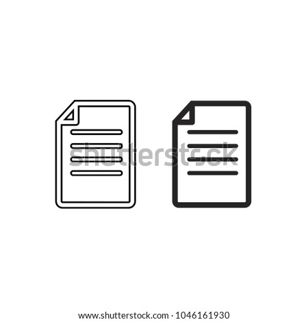 document line paper vector icons