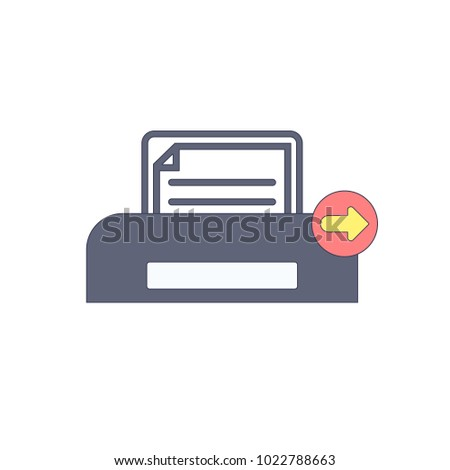 Document, next, paper, print, printer, printing icon. Vector illustration