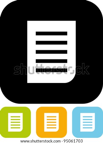 Document page - Simple vector icon